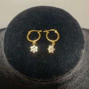 Authentic 18K Yellow Gold Drop Earrings